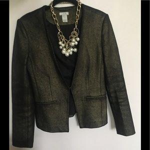 Cachè gold and black suit jacket